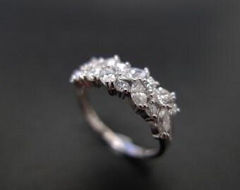 Marquise Diamond Wedding Ring in Platinum