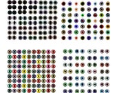 4 12mm Eyes Collage Sheets - Buy in Bulk to Save