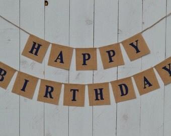 Happy Birthday Banner  ...  Birthday Banner  ...  Burlap Banner  ...  Bunting ..   first birthday
