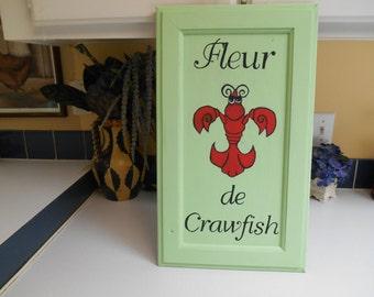 Signs/New Orleans/ fluer de lis/ Crawfish sign/ Crawfish
