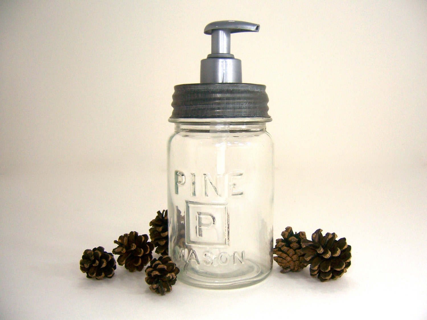 Soap Dispenser Made From Antique Mason Jar With P Square And