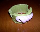 hand built pottery sponge holder