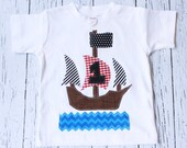pirate birthday shirt, one, ship, 1st,  t shirt, pirate, boy white