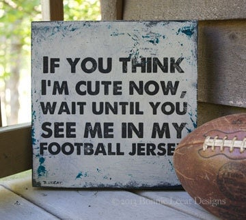 Football Sign Sports Decor Football Wall Hanging Baby Boy