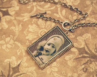 Retro Vintage 1920's High Maintenance Flapper Girl Necklace
