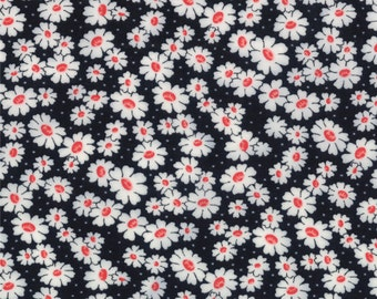 30's Playtime - Simple Daisy in Black by Chloe's Closet for Moda Fabrics