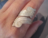 Vintage Brushed Sterling Double Wave Taxco Ring