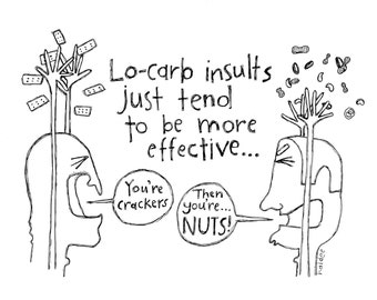 Lo-Carb Insults Still Count - Pen & Ink Illustration