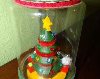 Christmas Tree Snow Globe Craft Kit