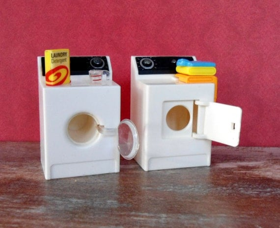 Vintage Washer Dryer ACME Miniature Laundry Magnets Dollhouse Furniture