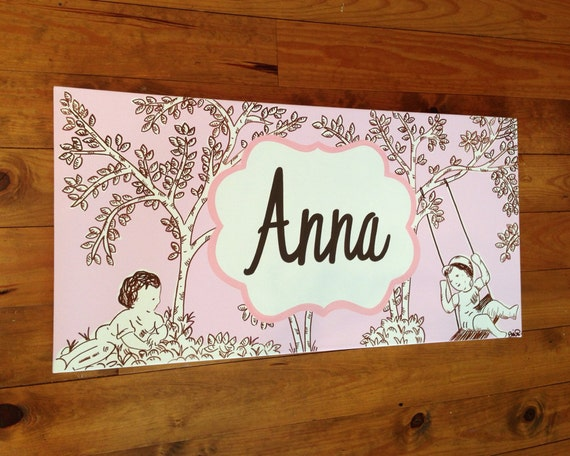 Outstanding large personalized custom painting to match your child's decor- pink  570 x 456 · 80 kB · jpeg