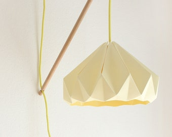 Wall fixture Klimoppe with paper lamp Chestnut