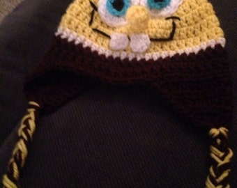 Crochet SpongeBob hat