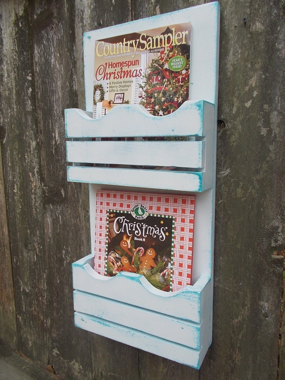Items similar to magazine organizer cook book holder file folder wall decor kitchen decor on etsy - Magazine wall decor ...