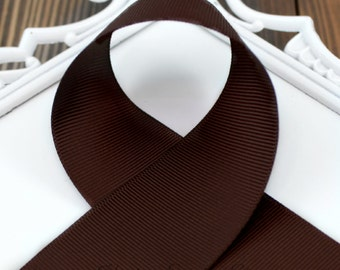 Brown ribbon 7/8 inch - choose from 1-50 yards Grosgrain Ribbon - Hairbow Supplies, Etc.