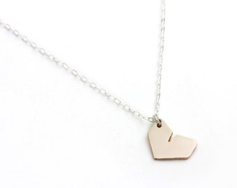 I Heart Necklace - Bronze