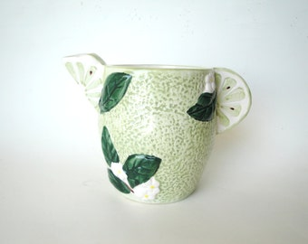 Vintage Lime Citrus Pitcher Green