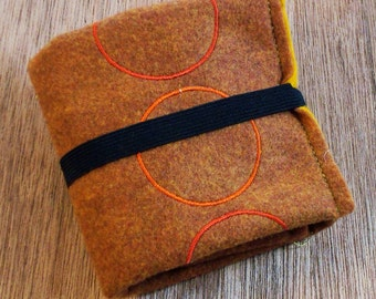 camel and mustard rolling jewelry bag