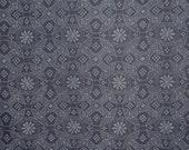Flower in Circle Print Japanese Indigo Pure Cotton Fabric--One Yard