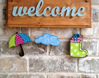 April Showers Ornaments for Welcome Sign