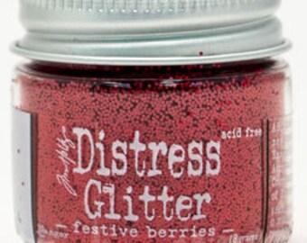 NEW** Distress Glitter- Festive Berries