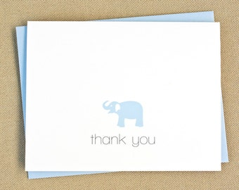 Elephant Thank You Cards / Personalized Baby Shower Thank You Note Cards / Children's Note Cards