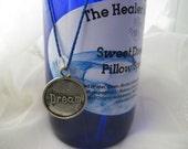 Sweet Dreams Pillow Spray ~ 4 oz Cobalt Blue Glass Bottle ~ Moonstone Chip