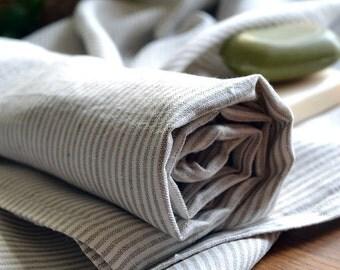 Linen Towel Gift Linen Bath Sheet Striped Linen Towel Bath Body Towel Eco Firendly Linen Towel 39  x 55 inches