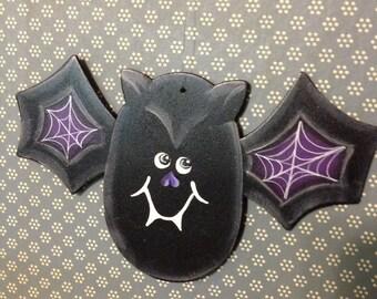 Wooden halloween bat