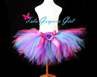 Hot Pink Turquoise and Purple Birthday Tutu...Rocker Star Tutu...Dance Recital Tutu, Birthday Tutu...Baby, Toddler, Girls. . . RAZZLE DAZZLE
