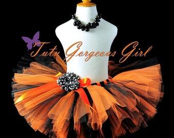 Orange and Black Halloween Tutu...Halloween Witch Tutu, Birthday Tutu...Baby, Toddler, Girls Sizes . . . HALLOWEEN FEST