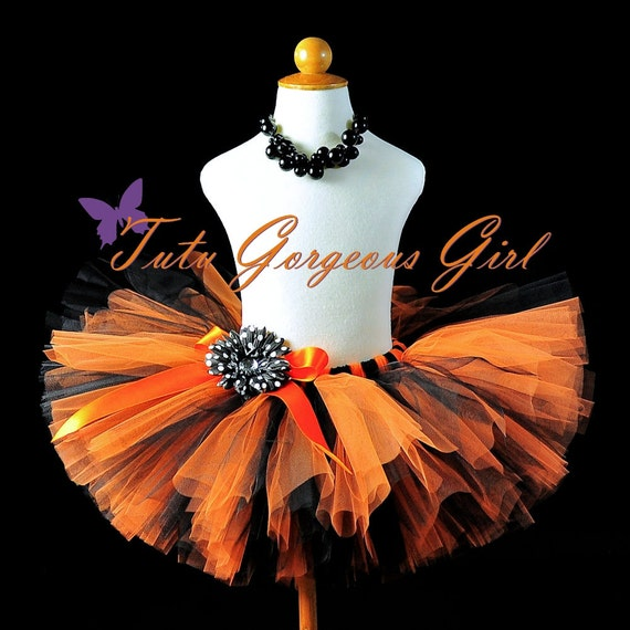 Orange and Black Halloween Tutu...Halloween Witch Tutu, Birthday Tutu ...