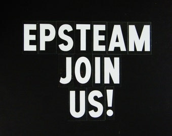 Etsy Pickers Sellers Team  epsteam  join us Vintage Sign Letters
