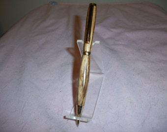 Gold Plated Slimline twist pen in Zebrawood