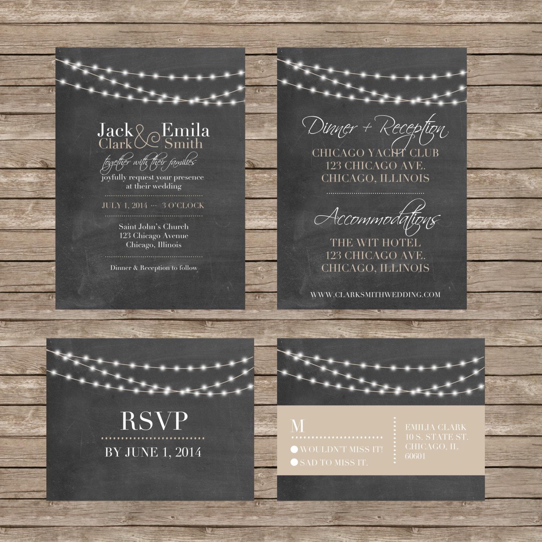 diy wedding invitations and rsvp cards - 28 images - diy wedding ...