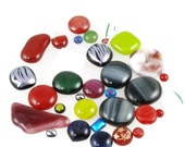 cabochons fused glass mix