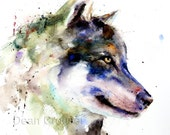 WOLF Watercolor Print by Dean Crouser