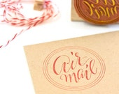 Airmail Rubber Calligraphy Stamp