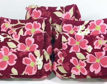 Bridesmaids Clutches Pink Choose Your Fabric Set of 7