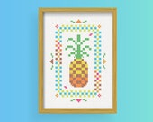 DIY Pineapple / Cross Stitch Pattern .pdf  / Instant Download