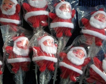 "12 Santas Vintage 2"" in Original Package New in Bag 5 cm"