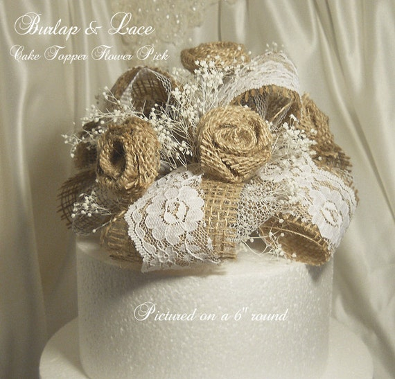 burlap and lace wedding cake toppers unavailable listing on etsy 12254