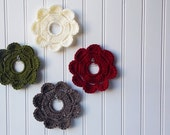 Decorative Crochet Mini Wreath Wall Hangings & Picture Frames - Woodland hues