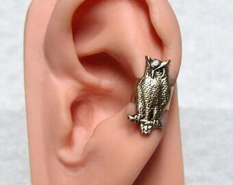 Steampunk Owl Ear Cuff