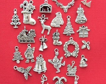 Christmas Charm Collection This Ultimate Holiday Collection includes Santa charms Reindeer charms ect.. 24 Different Charms in all - COL114