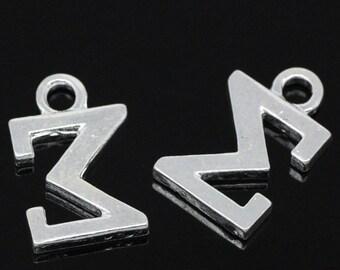 4 Sigma Charms Silver Plated Greek Alphabet - SC3315