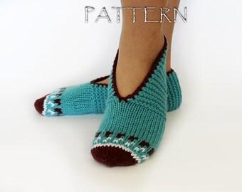 Pattern Knitted Women Slippers - PDF file