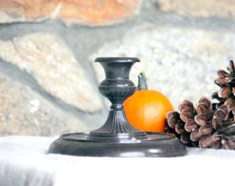 SALE Vintage Candlestick, Round Tapered Candle Holder - Home Decor Simple Elegant Lighting Centerpiece