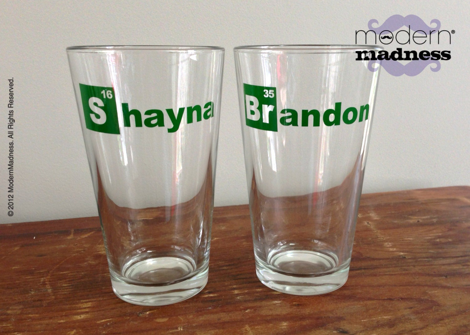 Pint glasses breaking bad heisenberg set of 2 beer zoom gamestrikefo Image collections