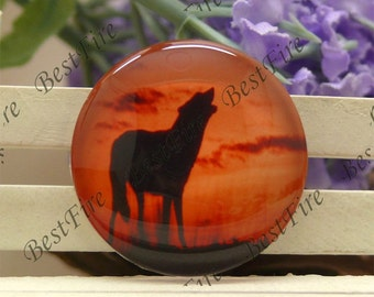 10mm,12mm,14mm,16mm,18mm,20mm,25mm,30mm Round Glass Cabochons Wolf,jewelry Cabochons finding beads,Glass Cabochons,animal--58